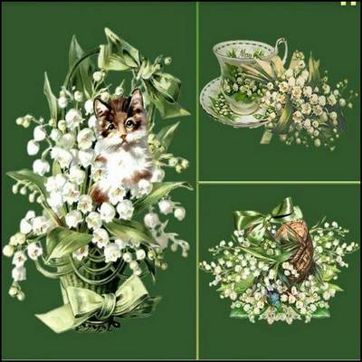 PNG images Vintage Flowers - 62 png clusters, ~ 640x893 px, ~  884x900 px