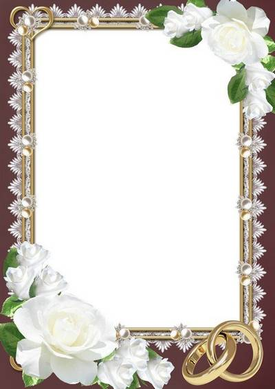 Wedding photo frame - The tenderness of love