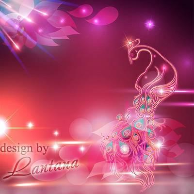 PSD Background- Wonder Bird rainbow light sparkles