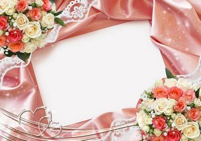 Wedding frame in soft peach tones - We found love