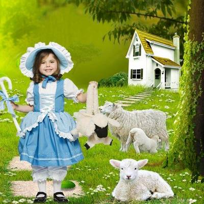 Free psd suit children - Little shepherdess