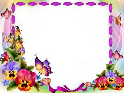 Free psd frame template with flowers and butterflies