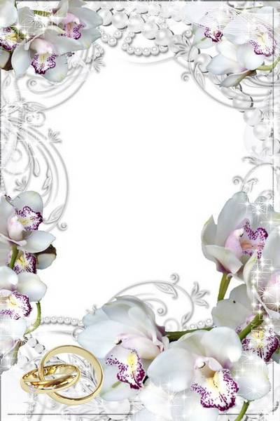 Photo frame - Wedding Orchid