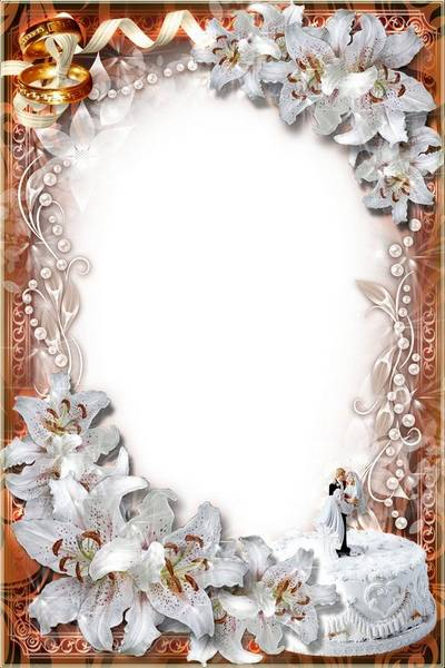 Luxury Frame - Fine Wedding Lilies