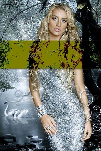 Female template for a photomontage - Glamour shine