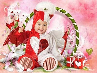 Free Baby suit PSD + 3 PNG for photo of the montage - little Cupid
