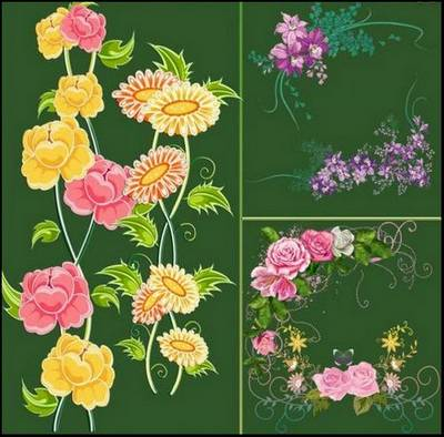 Clipart png Elements for Collages - 2515 PNG images, flowers, leaves, curls, decoration, clusters, frames, inscriptions and more... File Size: rar 899 Mb