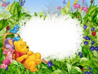 Baby Frame Psd Png Winnie The Pooh And Piglet Free Download