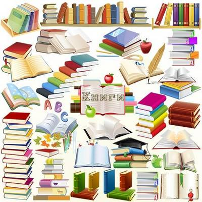 Books Clipart free psd file, layered PSD, 30 elements, ~ 5000x5000 px, free download