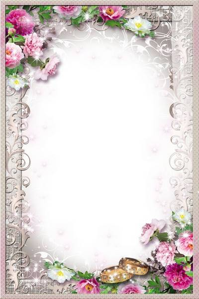 Free Wedding photo frame psd Wonderful Love Moments free download