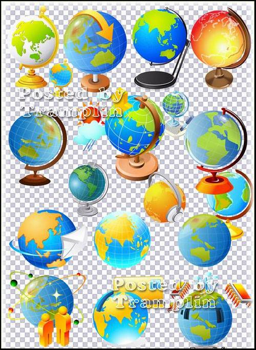Clipart in Psd – Globes free download