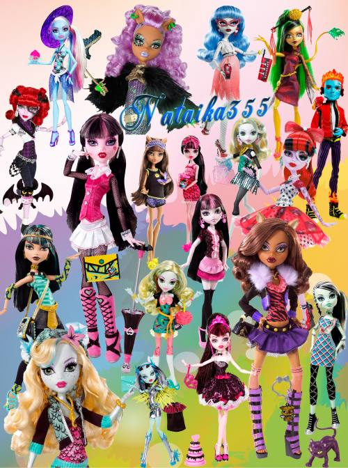 Dolls Of Monster High free psd download