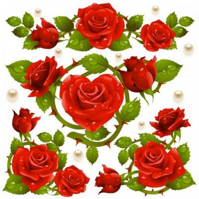 Free Rose Clipart Cluster psd Paradise Rose free download