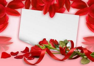 Free Postcard Clipart 10 PSD Greeting card with roses free download