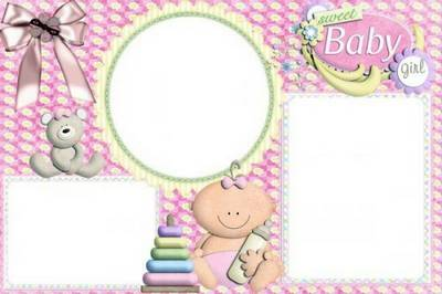 Our sweet little girl - baby girl photo frame free download