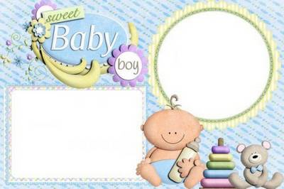 Our sweet baby - baby boy photo frame png free download
