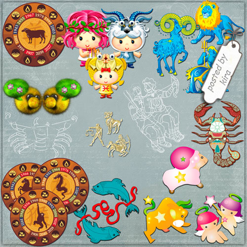 Clipart free PNG Zodiac signs, Chinese horoscope - 140 PNG images free download