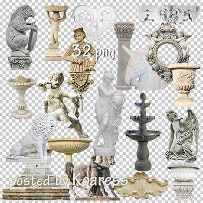 Architecture elements PNG: statues png, reliefs png, fountains png, columns png, capitals png ( 83 PNG images free download )