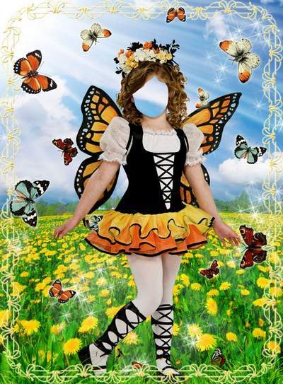 Children's template for Photoshop - Magical World of Fairies