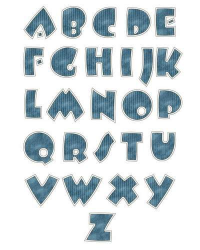 Beautiful free psd english alphabet for photoshop of sequins - ABCD free download