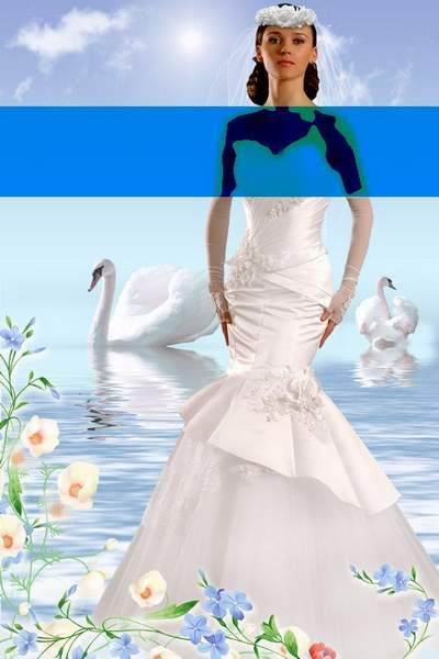 Free psd template suit for photoshop - Lady bride free download
