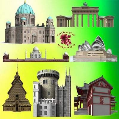 Architecture Clipart 25 free PNG elements on a transparent background free download