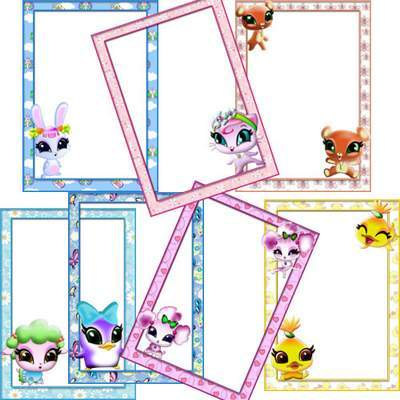 Childish Photoframe 7 free png frames Pets WINX free download
