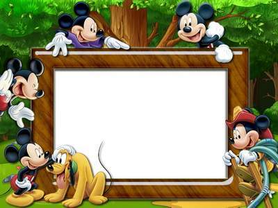 Children frame - Dear good Mickey Mouse. Transparent PNG Frame, PSD ...