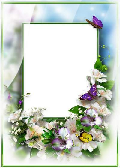 Flower Photoshop Frame collage psd template free download
