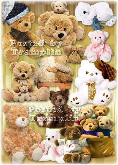 Clipart on a transparent background in Psd - Soft Toys - Teddy Bear free download