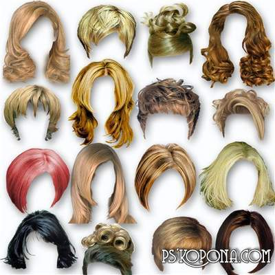 Hair Clipart PSD, 288 Female haircuts and hairstyles 6 PSD files free download