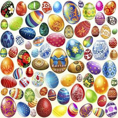 Clipart PSD Easter eggs free download