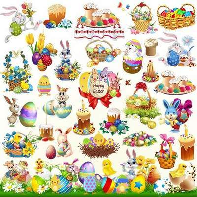 Easter clipart 7 psd ( updated + 5 psd )