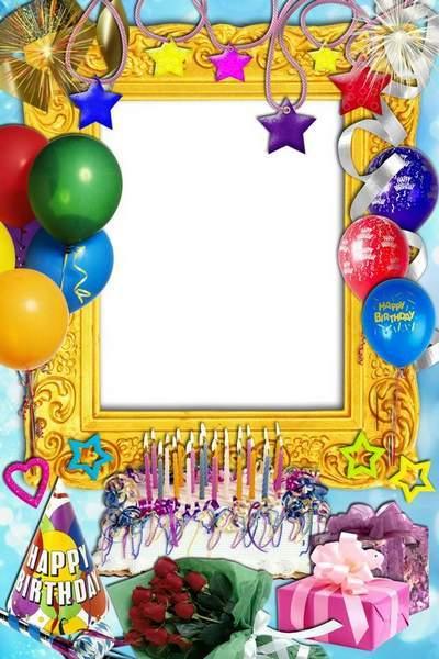 Frame for photoshop - My birthday