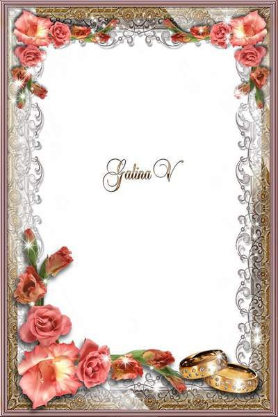 Wedding Frame psd Gladioluses, a Fidelity Symbol free download