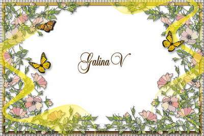 Frames Photoshop photo frame psd png Flowery Idyll free download