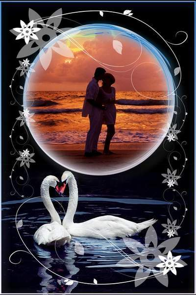 Romantic Frame Photoshop photo frame psd In Love free download
