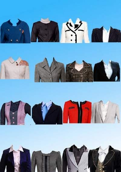 Clothing Clipart psd - Women's costumes psd for the photo on documents free download