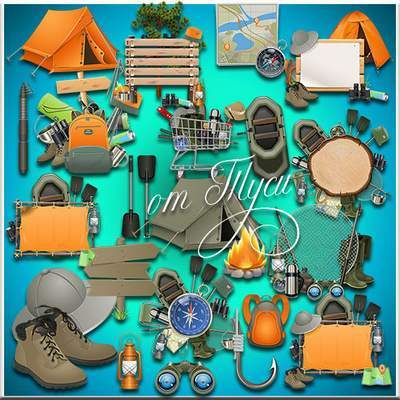Fishing Clipart PSD free download
