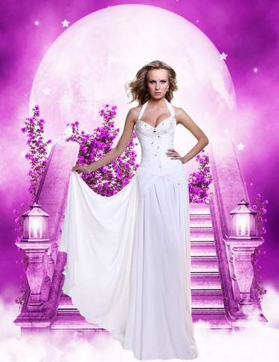 Woman psd template - Collection of elegant and luxurious evening dresses