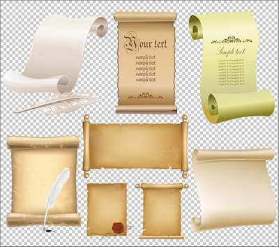 Scrolls Graphics psd on a transparent background free download