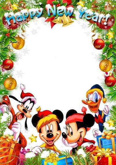 Children's Christmas, New Years Photo Frame - Holidays with Disney, free download