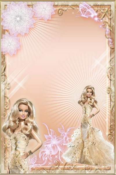 Baby Photoframes Beauties Barbie in evening dresses free download