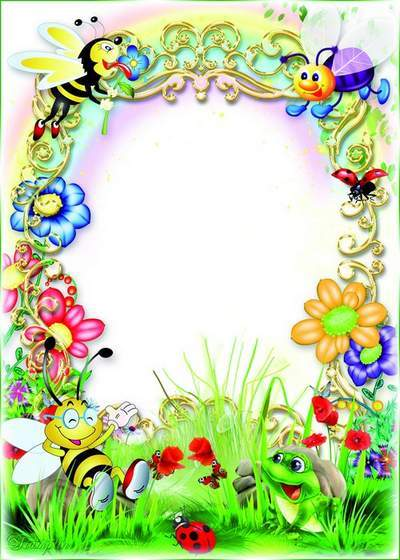 Baby frame  psd with bees - I'm studying the nature of, free download