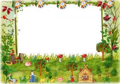 Kindergarten photo frame free psd for Group photo free download
