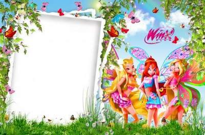 Children frame for photo - find summer with Winx