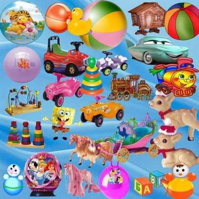 Clip Art PSD children toys - Dogs and cats, lions and cubs