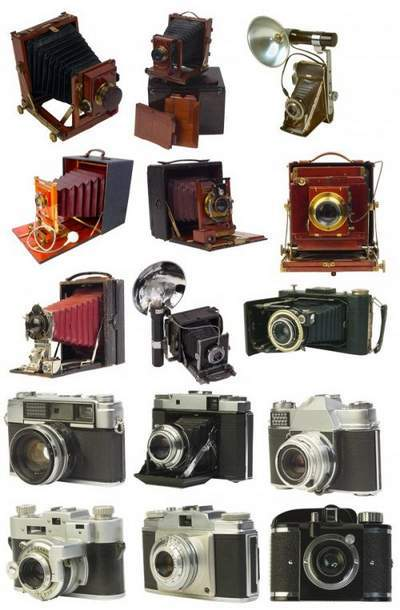 ClipArt in Psd Old Cameras free download