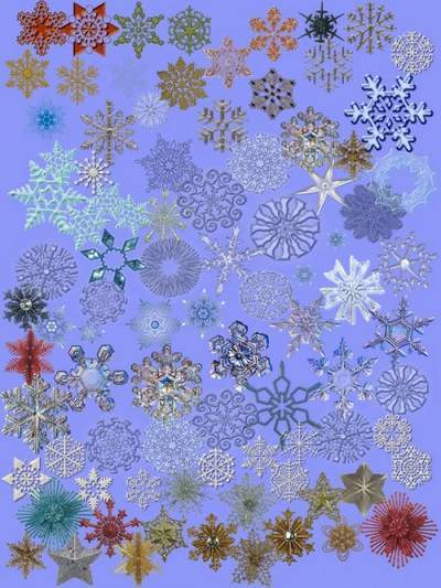 Snowflakes PSD Clip art download