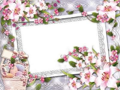 Bright Congratulatory Photoframe Happy Easter free download